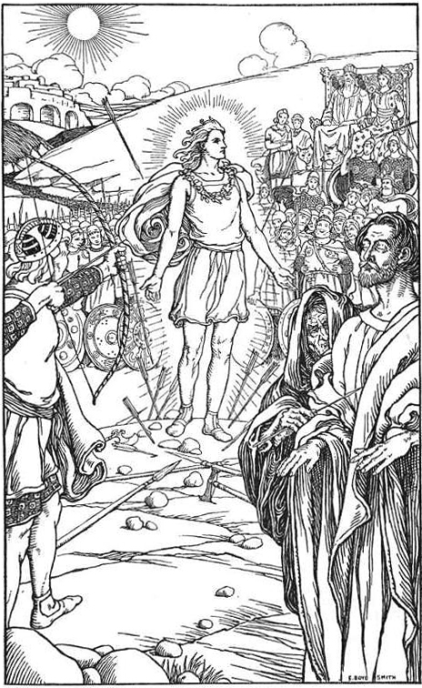 Each arrow overshot his head by elmer boyd smith