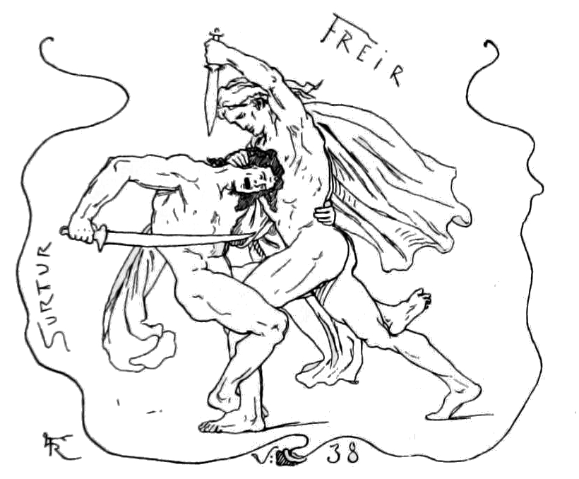 Freyr and surtr by frolich